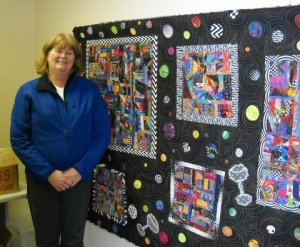 Sara Jones by quilt in BRIC