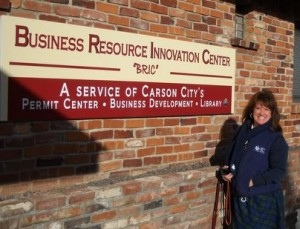 Tammy Westergard in front of BRIC